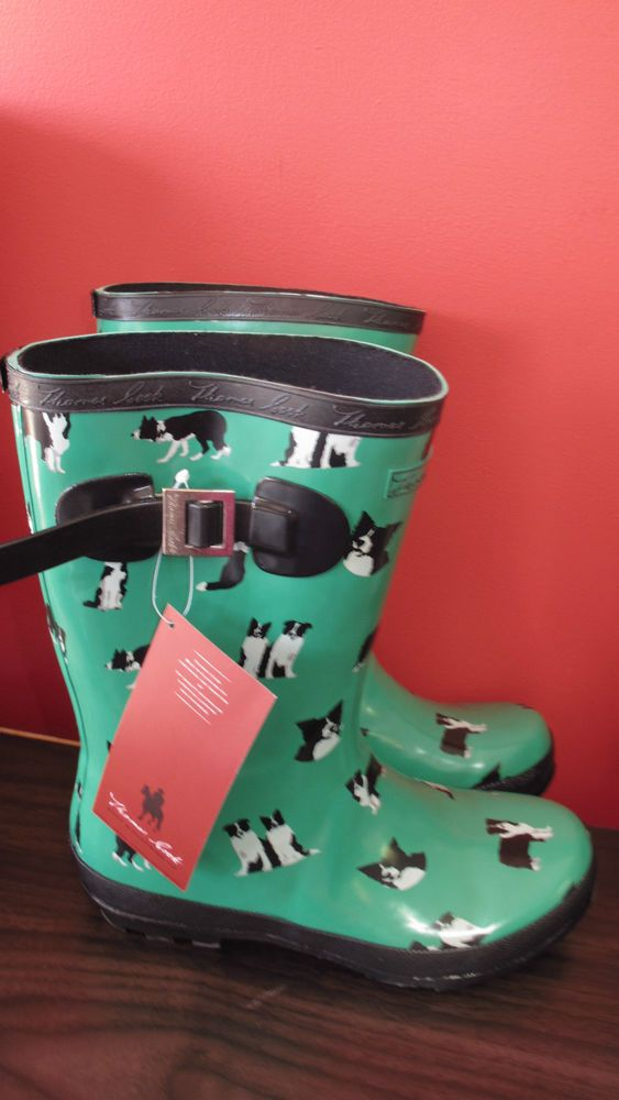 Women s Thomas Cook Dogg Print Gumboot, Size 8