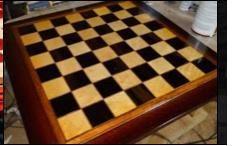 videos como fazer no blog: Ah! E se falando em madeira...: tabuleiro de xadrez