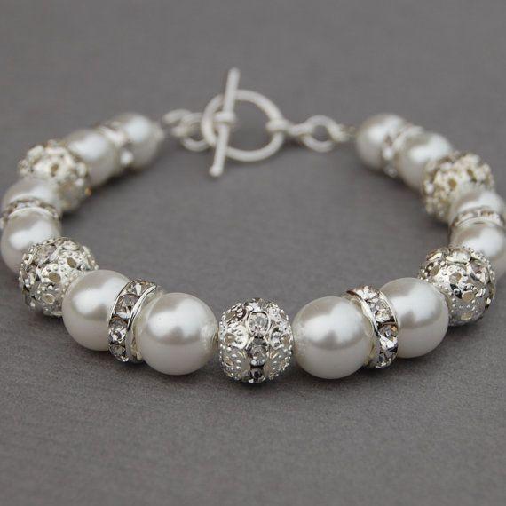 Bruiden armband bruiloft sieraden witte parel armband