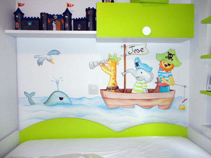 Dibujos infantiles para decorar paredes good la with - Murales de pared pintados a mano ...