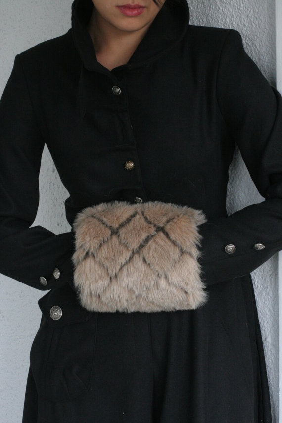Luxury Tan Fur Muff by BelleHaven on Etsy, $29.99