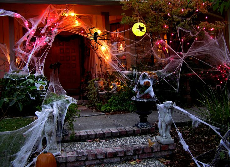 Scary Outdoor Halloween Decorations | The decorations outside and inside are all ready for our guests.