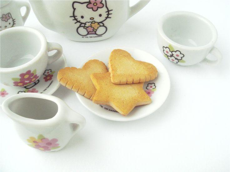 Печенье для кукольного чаепития, диаметр 3 см, материал - полимерная глина/ Cookies to play with dolls, 3 сm, material is polymerclay