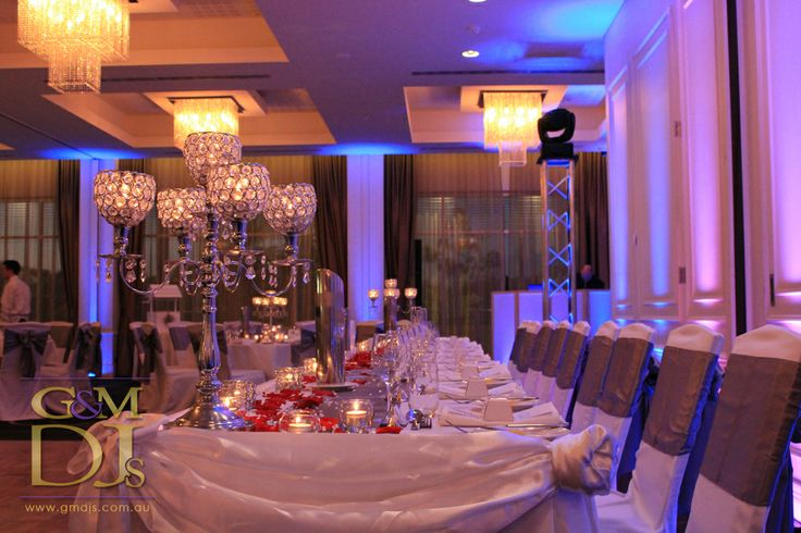 Blu wedding lighting at Easts Leagues Club | G&M DJs | Magnifique Weddings #gmdjs #magnifiqueweddings #weddinglighting #eastsleaguesclub @gmdjs