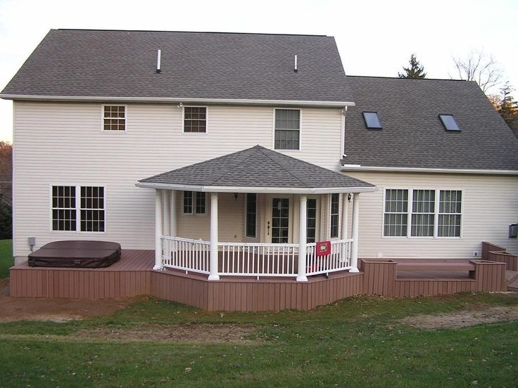 Back Deck Designs Open Porch With Hip Roof Covered