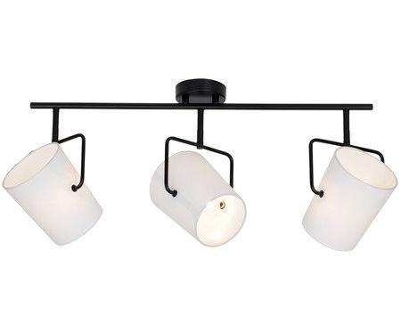Deckenleuchte Buster, Aufhängung: Schwarz Lampenschirme: Weiß