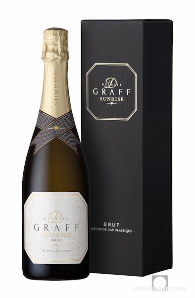 Wine Photography: Delaire Graff Sunrise Brut MCC & Box. www.bakkesimages.co.za