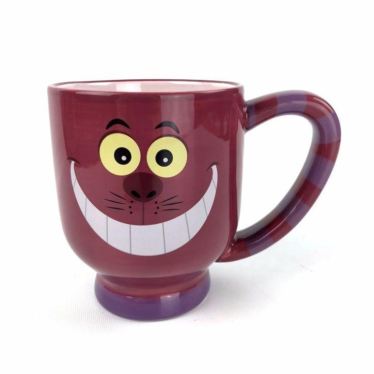 Disney Parks Cheshire Cat Oversize Coffee Mug Alice in Wonderland Purple Striped | Collectibles, Disneyana, Contemporary (1968-Now) | eBay!