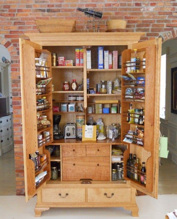 25 best free standing pantry trending ideas on pinterest for Cabinet storage ideas kitchen