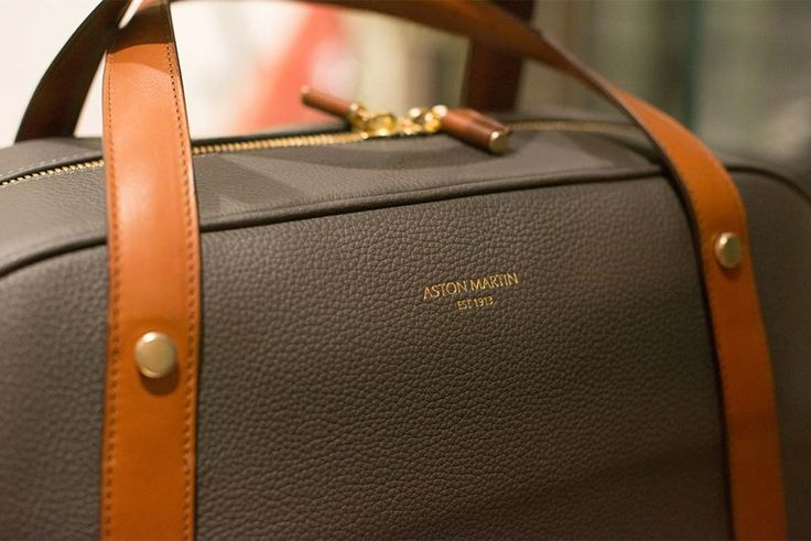 An elegant, all-leather luggage collection is created by FPM for Aston Martin's lifestyle collection