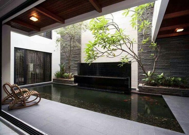 Indoor Garden and Pond