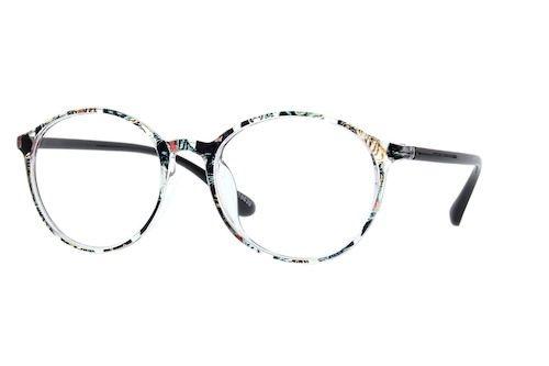 1ac6ef95867 Zenni Round Prescription Eyeglasses Pattern Tortoiseshell TR 2018639 ...