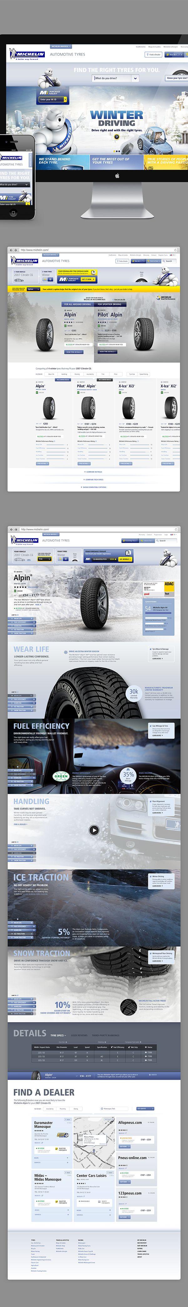 pinterest.com/fra411 #webdesign - Michelin Pitch by Annmarie Akong, via Behance