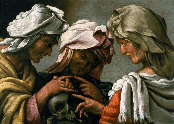 Pietro della Vecchia , dit Muttoni (1605-1678) - Les 3 Parques - Peinture
