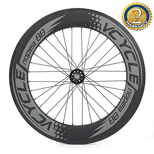 VCYCLE Nopea 700C Carbon Fiber Wheelset 88mm Clincher Fixed Gear Single Speed 3232 Holes Rear Wheel -- Click image to review more details. This is an Amazon Affiliate links.