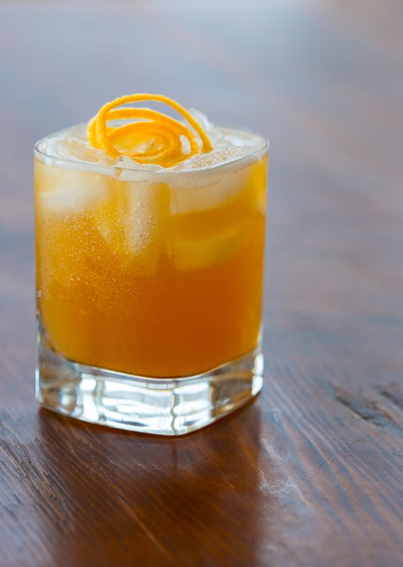 Maple Meyer Lemon Whiskey Sour- From scratch, maple sweetened, no sour mix, no preservatives, gluten-free