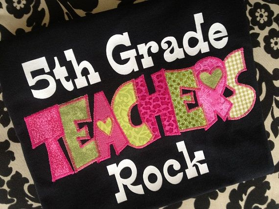 TEACHERS ROCK SHIRT - With Grade Level Above :) on Etsy, $20.00