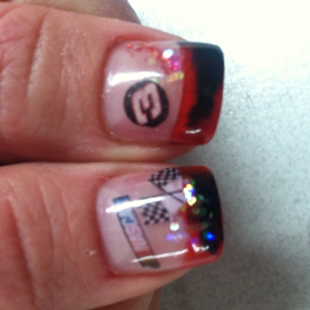 My new NASCAR nails (by Nailicious) - Best 25+ Nascar Nails Ideas On Pinterest Racing Nails, Pretty