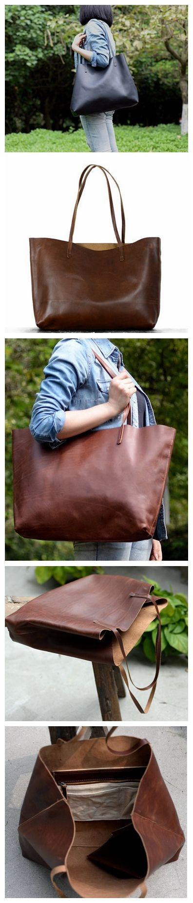 VINTAGE GENUINE LEATHER WOMEN TOTE BAG, SHOPPING BAG, SHOULDER BAG