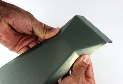 http://www.alucobond.com/  Awesome colors and finish for aluminium!