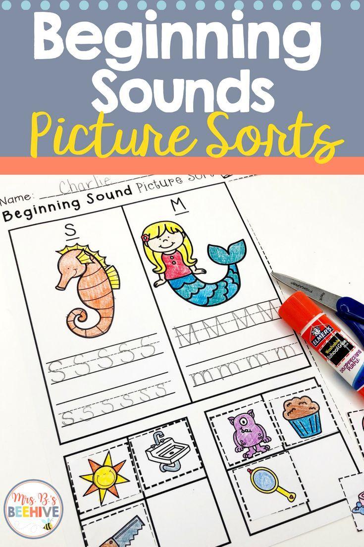 Beginning Sounds Picture Sorts And Worksheets Kindergarten