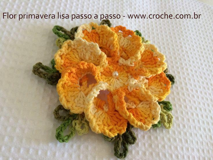 Flower crochet free pattern - portugese