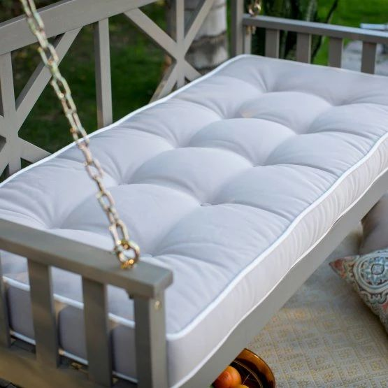 Belham Living Cottonwood Deep Seating 64 in. Porch Swing Bed with Cushion - Porch Swings at Hayneedle