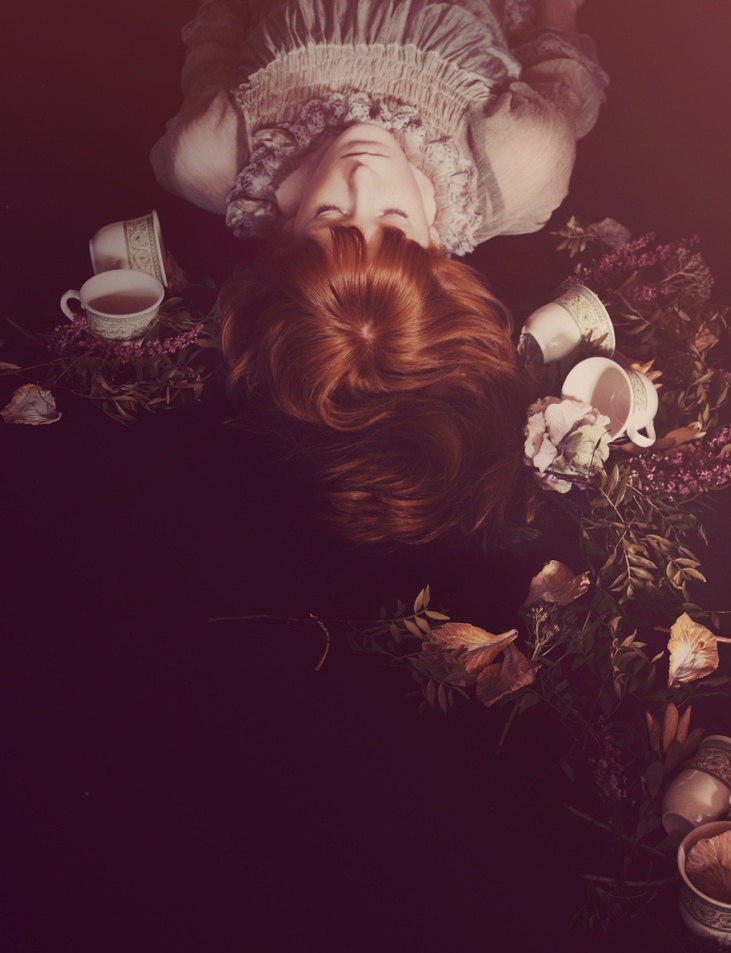 Amy's planning her next shoot based on this stunning image: alice in wonderland / the last tea party by Marina Refur