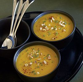 Roasted Hubbard Squash Soup with Hazelnuts & Chives - Fine Cooking Recipes, Techniques and Tips