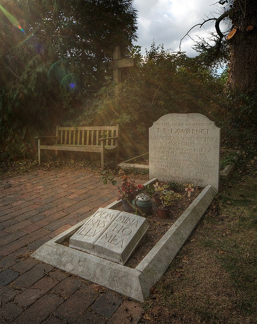 Grave of T E Lawrence, St Nicholas Church, Moreton, Dorset