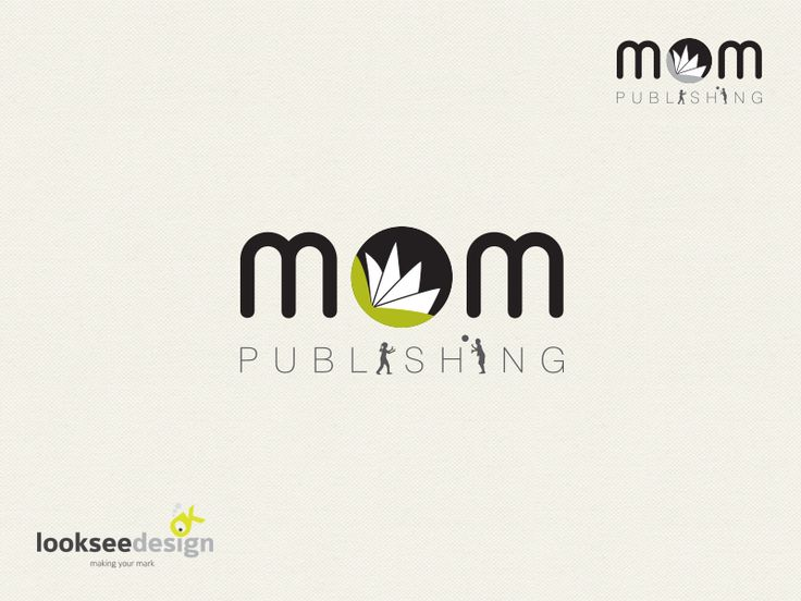 Mom Publishing - Logo Designed by Looksee Design