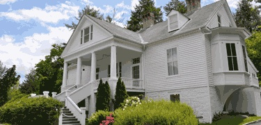 Carl Sandburg home - we visited while in Hendersonville, NC.  Steve nearly killed me making me hike up the mountain!