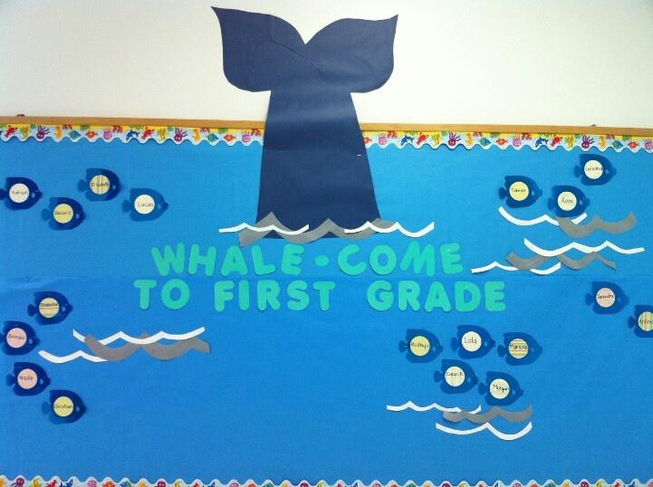 Beginning of the year bulletin board- thanks pinterest
