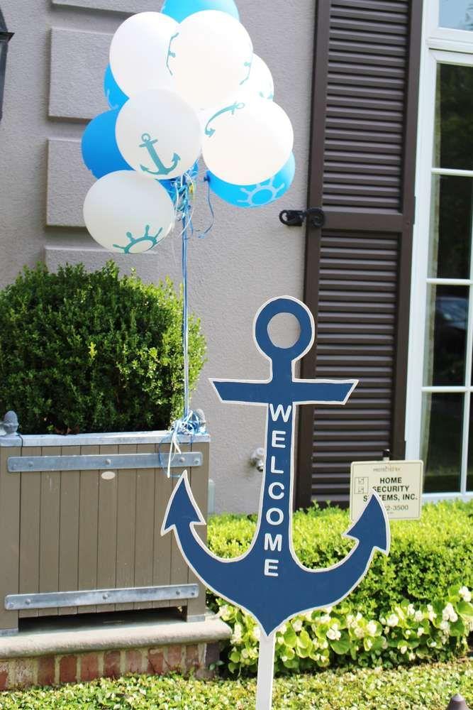 Walker's Wonderfully Nautical 1st Birthday Party | CatchMyParty.com