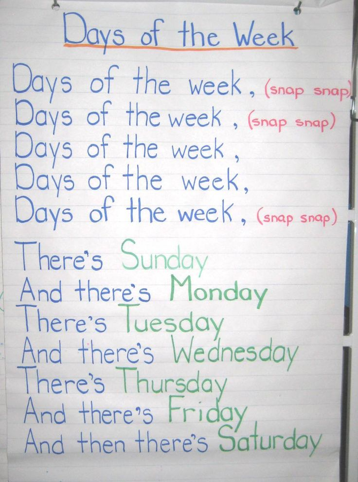 Days of the Week - adams family song. Loved doing this with my kids during…