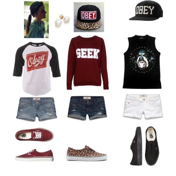 obey skater girls outfit