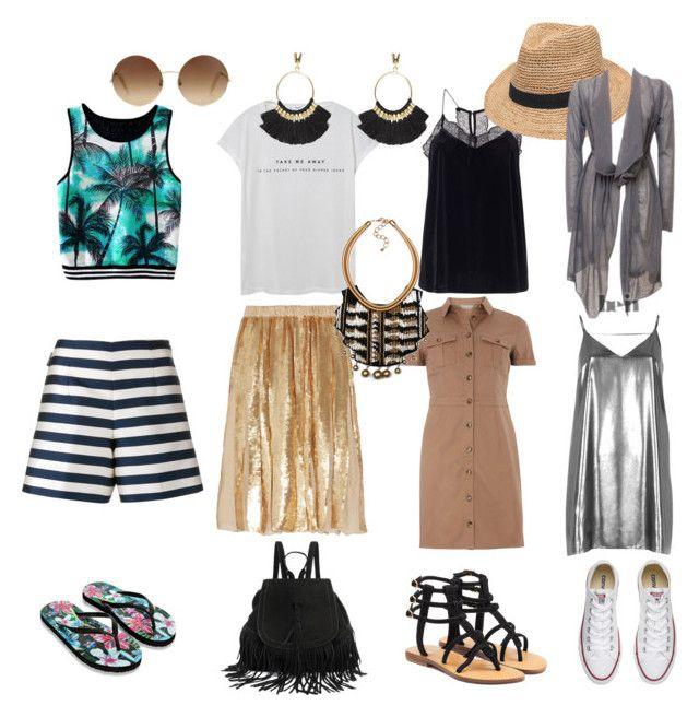 """гардероб для путешествий"" by stylista107 on Polyvore featuring мода, MANGO, TIBI, Moncler, mel, River Island, Accessorize, Mystique, Converse и Gottex"