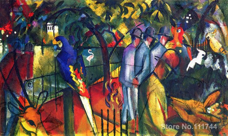 Zoological Garden I August Macke art home decor quality paintings hand painted