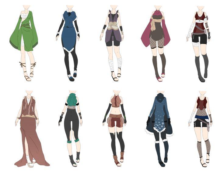 Naruto Outfit Adoptables 8 [CLOSED] by xNoakix3.deviantart.com on @deviantART