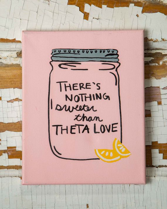 Mason Jar Sorority Canvas by MansionHillDesigns on Etsy