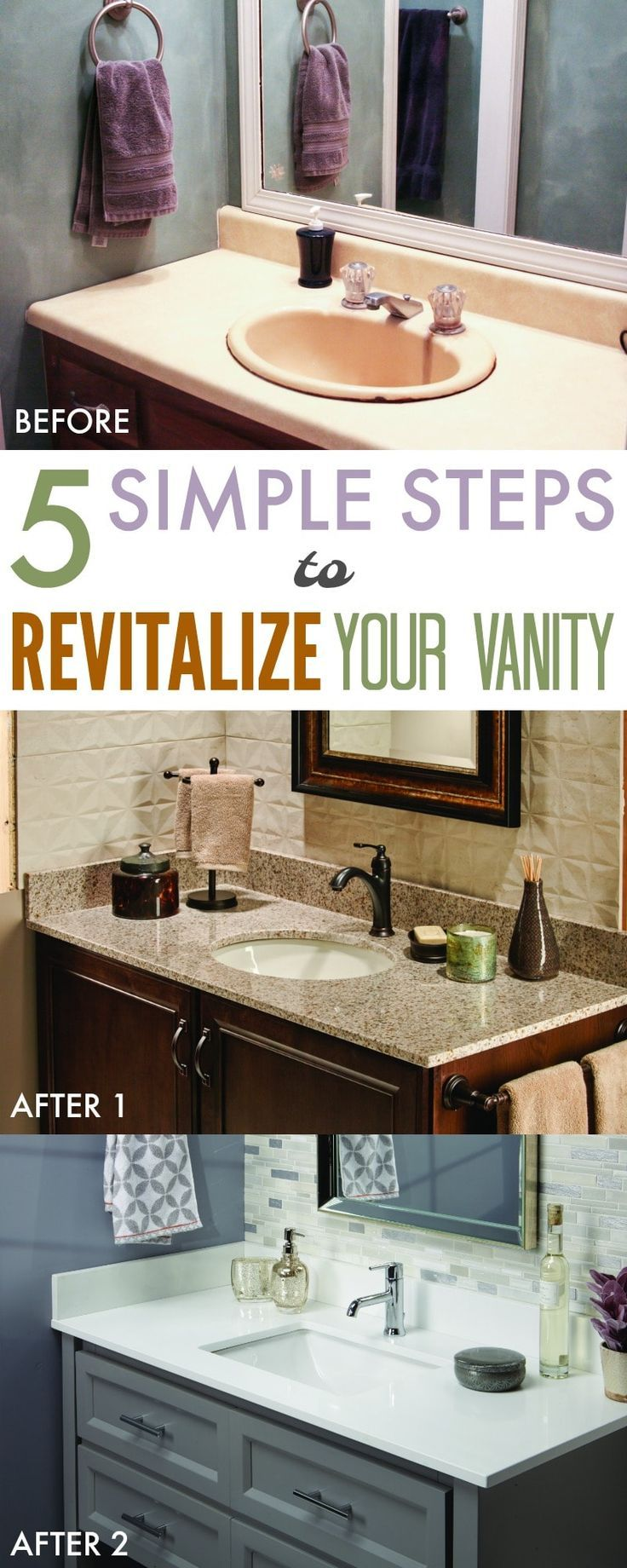 5 Simple Steps To Revitalize Your Bathroom   Au0027Vant Vanity Surfaces.  Remodeling ...