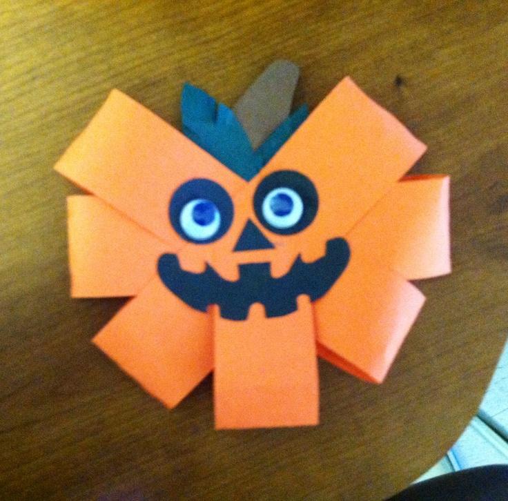 construction paper pumpkin great craft for younger kids - Halloween Crafts Construction Paper