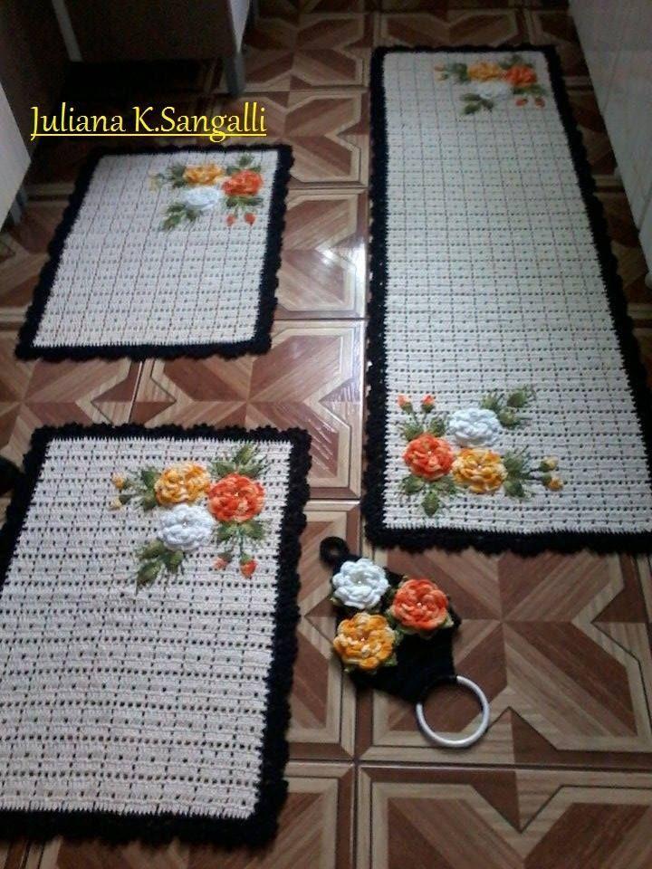 1411 best tapetes en crochet images on pinterest doilies for Tapetes de crochet