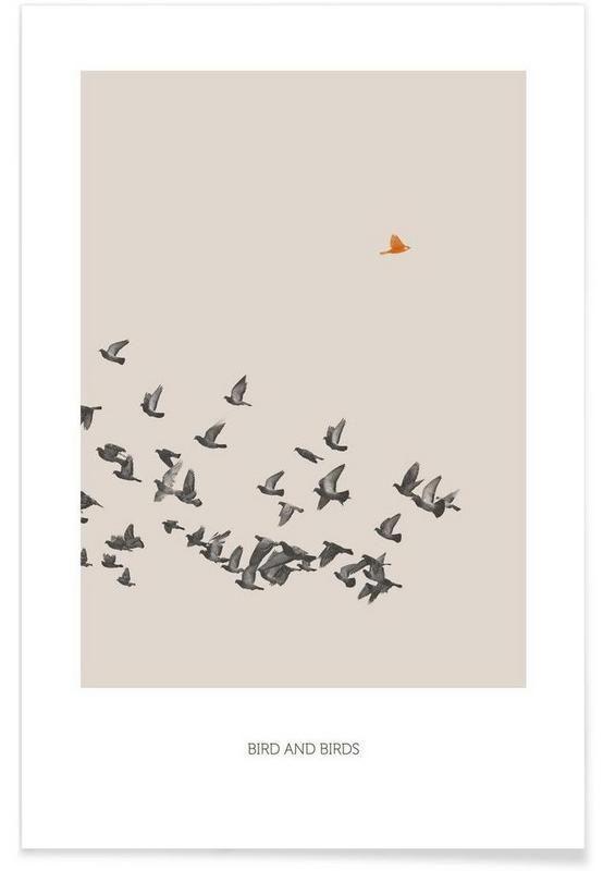 Bird And Birds als Premium Poster von Sarah Bühler   JUNIQE