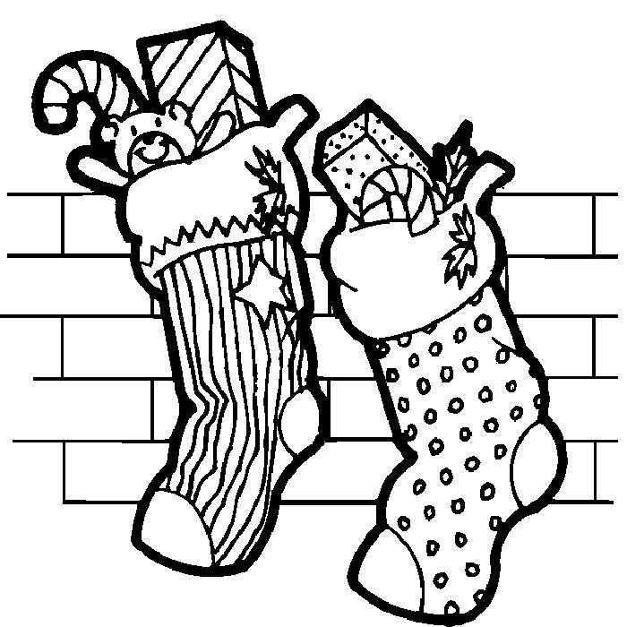 Calcetines Navidenos Con Regalos Paginas Para Colorear De Navidad Arbol De Navidad Para Colorear Colores De Navidad
