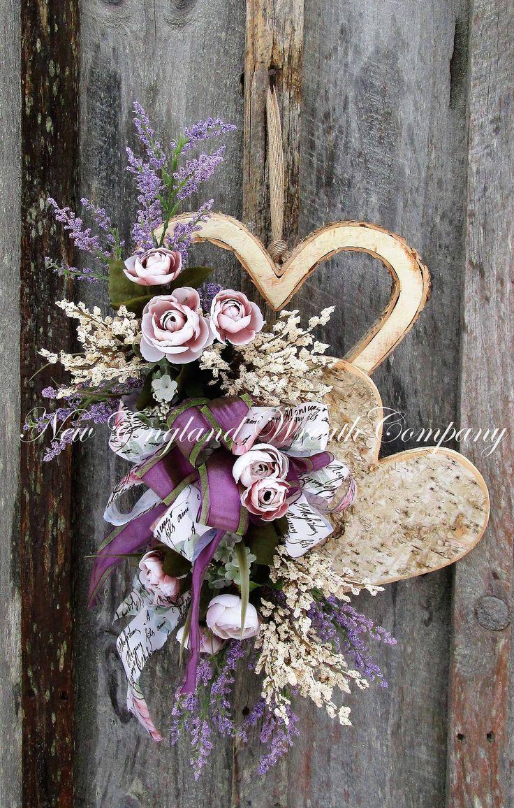 Newbury Cottage Heart Swag  ~A New England Wreath Company Original~