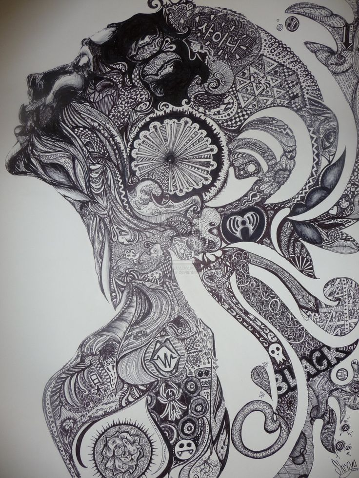 ~ ~ Zentangle is the latest craze and can also be referred to as doodling. It is a way to create beautiful images by drawing structured and repetitive patterns as a way of creative expression. ~ ~ by ~sharpieftw on deviantART