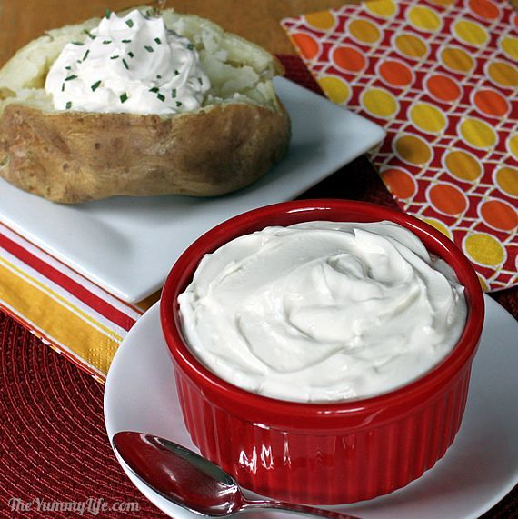 Healthy Sour Cream Substitute  Only 2 ingredients: cottage cheese plus lemon juice or vinegar. Amazingly similar to sour cream.