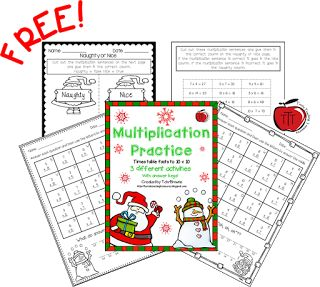 Free Christmas Multiplication Activities As it is getting closer to Christmas I am always looking for ways to engage my students and keep them learning. My students always have fun with these Multiplication riddles and sorting activity. Included are 3 fun Christmas/winter themed multiplication pages for students to practice multiplying numbers to 10 x 10. There are 2 riddle pages and a multiplication sentence sort page. Answer keys included to make your life easier! To get your free copy you can