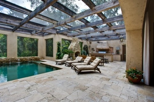 atriumCovers Patios, Pools Area, Indoor Pools, Ideas, Patios Design, Indoor Outdoor, Outdoor Kitchens, Outdoor Pools, Pools Design